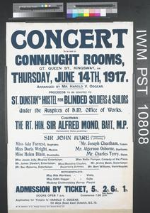 Concert to be Held at Connaught Rooms