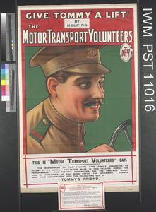 Give Tommy a Lift! - This is Motor Transport Volunteers Day