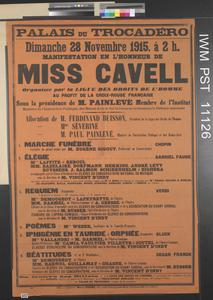 Mainfestation en l'Honneur de Miss Cavell [Demostration in the Honour of Miss Cavell]