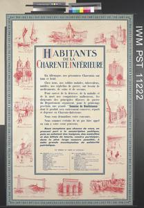 Habitants de la Charente-Inférieure [Inhabitants of Lower-Charente]