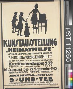 Kunstausstellung 'Heimathilfe' [Art Exhibition 'Aid on the Home Front']