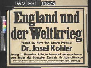 England und der Weltkrieg [England and the World War]