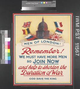 Men of London! - Remember! We Must have More Men So Join Now