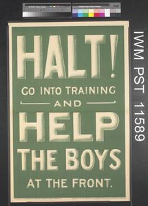 Halt!... Help the Boys at the Front