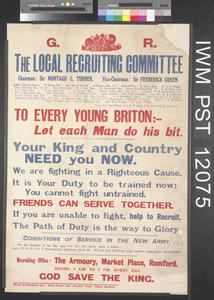 To Every Young Briton - Let Each Man do His Bit