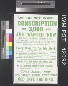 We do not want Conscription