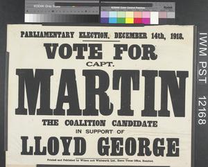 Vote for Capt. Martin the Coalition Candidate