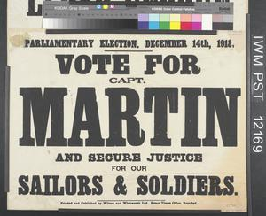 Vote for Capt. Martin and Secure Justice for Our Sailors and Soldiers