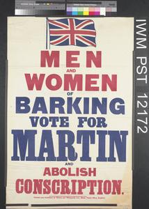Men and Women of Barking - Vote for Martin