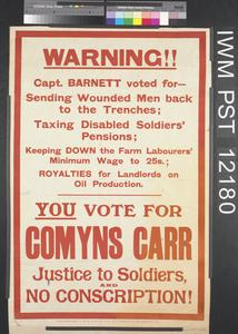 You Vote for Comyns Carr