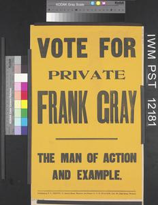 Vote for Private Frank Gray