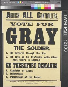 Vote for Gray the Soldier