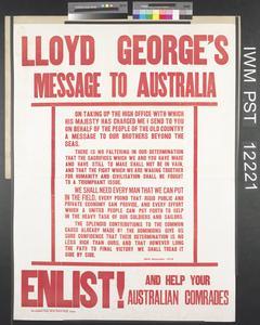 Lloyd George's Message to Australia