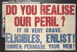Do You Realise Our Peril?