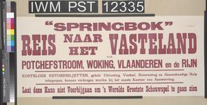 'Springbok' Reis Naar Het Vasteland ['Springbok' Travel to the Continent]