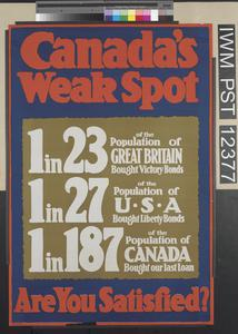 Canada's Weak Spot - Are You Satisfied?