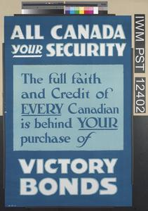 All Canada - Your Security - Victory Bonds