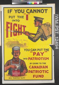 If You Cannot Put the 'I' into Fight You Can Put the 'Pay' into Patriotism