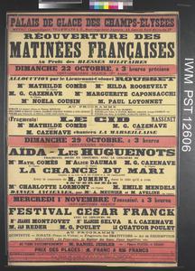 Réouverture des Matinées Françaises