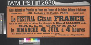 Le Festival César Franck [The César Franck Festival]