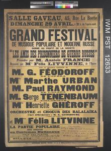 Grand Festival de Musique Populaire et Moderne Russe [Grand Festival of Russian Popular and Modern Music]