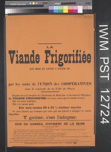La Viande Frigorifiée [Refrigerated Meat]