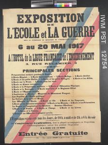Exposition de l'École et la Guerre [Exhibition of School and War]