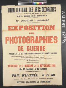 Exposition des Photographies de Guerre [Exhibition of War Photographs]