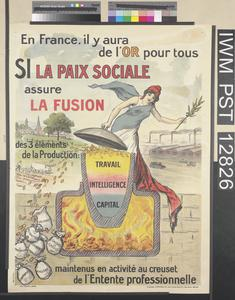 Si la Paix Sociale Assure la Fusion [If Social Peace Ensures the Coalescence]