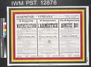 Wapenstilstand - L'Armistice - Armistice Day