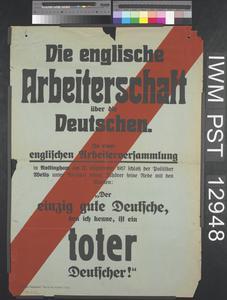 Die Englische Arbeiterschaft über die Deutschen [The English Workers about the German Ones]