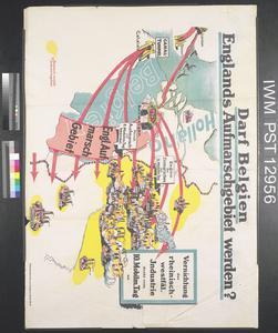 Darf Belgien Englands Aufmarschgebiet werden? [Can Belgium be Allowed to Become England's Deployment Area?]