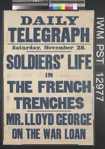 Soldiers' Life in the French Trenches
