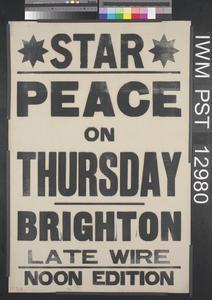 Peace on Thursday