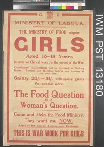 The Ministry of Food Require Girls