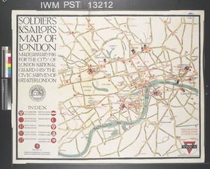 Soldiers and Sailors Map of London