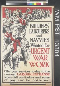 Builders' Labourers and Navvies Wanted for Urgent War Work