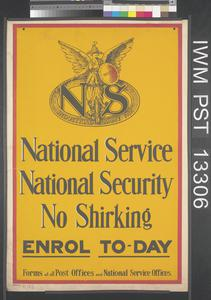 National Service - National Security - No Shirking