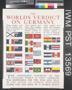 The World's Verdict on Germany
