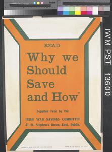 Why we Should Save and How