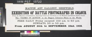 Exhibition of Battle Photographs in Colour