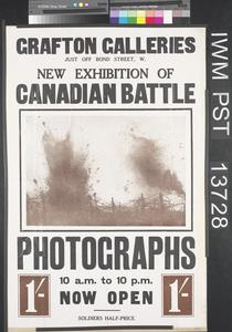 New Exhibition of Canadian Battle Photographs