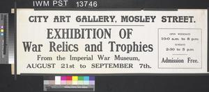 Exhibition of War Relics and Trophies