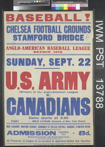 Baseball! U.S. Army versus Canadians
