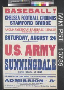 Baseball! U.S. Army versus Sunningdale
