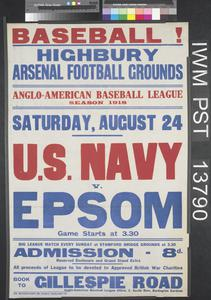 Baseball! U.S. Navy versus Epsom
