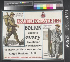 Disabled Ex-Service Men© IWM (Art.IWM PST 13806)