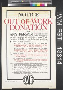 Notice - Out-of-Work Donation