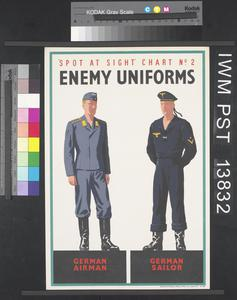 Spot at Sight Chart Number Two - Enemy Uniforms