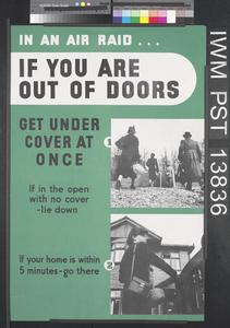 In an Air Raid...If you are Out of Doors